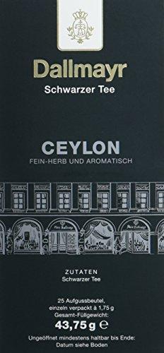 Dallmayr Tee Aufgussbeutel - Ceylon, 1er Pack (1 x 43,75 g)