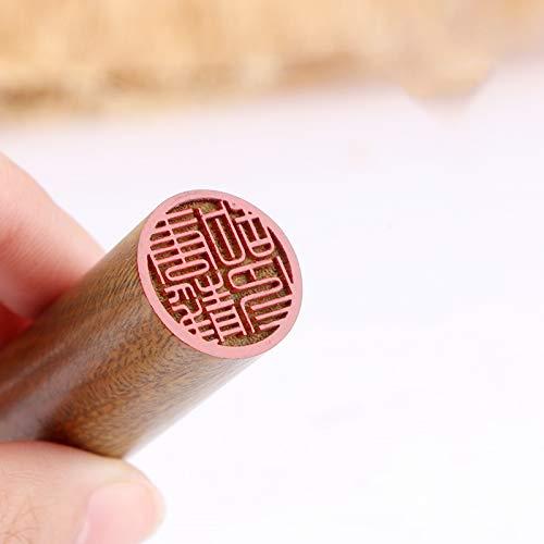 Japanischer Hanko Chop japanischer Namenstempel, Holzstempel, japanische Schreibwaren, chinesisches Namensssiegel