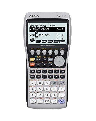 Casio FX-9860G II Grafikrechner mit natürlichem, 8zeiligem Display, Batterie