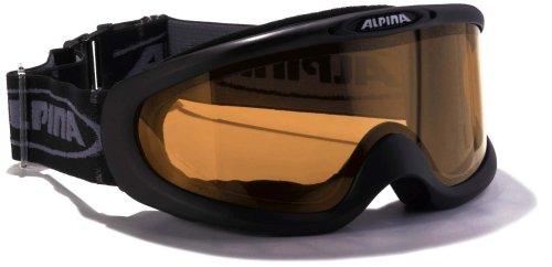 ALPINA Erwachsene Skibrille Magnum, schwarz qlh (black qlh), one size