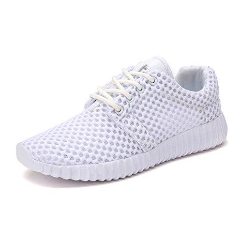 天豐 通気性の良いメッシュ素材サボスニーカー女装 安全靴はランニングシューズ超軽量 (23.5, 白い)