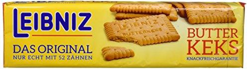 original Leibniz Butterkeks 200g - traditioneller Keks mit 52 Zähnen - Butter-Gebäck für die ganze Familie - knackiger Keks auch zum Mitnehmen