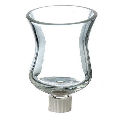 Dekolust 12er Set Windlichtaufsatz Glas 8cm