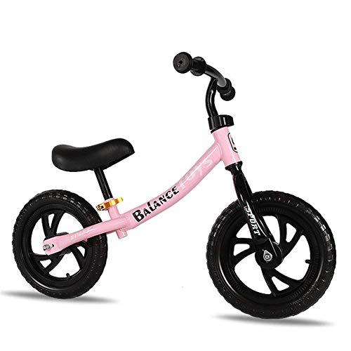 LRBBH Bicicletas de Equilibrio, Bicicleta de Balance de Niños de Metal de Dos Ruedas de 3 a 8 Años de Edad sin Pedal. Sentido de Caminatas para Niños en Juguetes,Pink