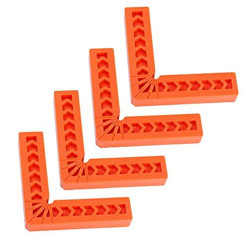 Abrazadera cuadrada de posicionamiento de 90 grados, 4 piezas de herramienta de carpintería para marcos de fotos