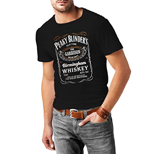 Fanta Universe Peaky Blinders - Camiseta Hombre - 100% Algodón (XL, Negro)