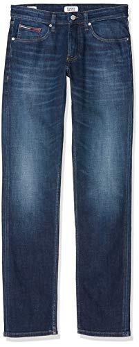 Tommy Jeans Herren ORIGINAL STRAIGHT RYAN ATDK Straight Jeans, Blau (Atlanta Dk Bl Com 1bj), W32/L34