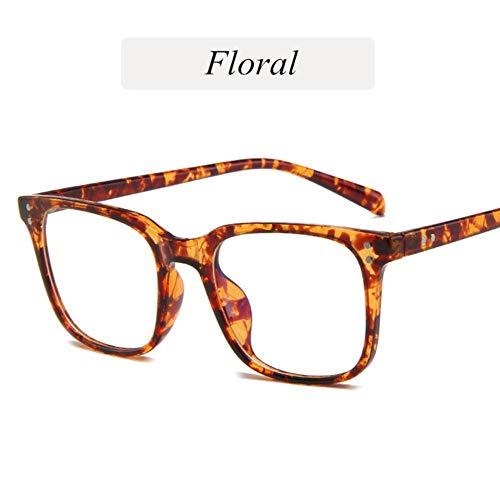 Boner Vintage Vrouw Brilmontuur Mode Heren Computerbrillen Optische Transparante Bijziendheid Bril, Bloemig
