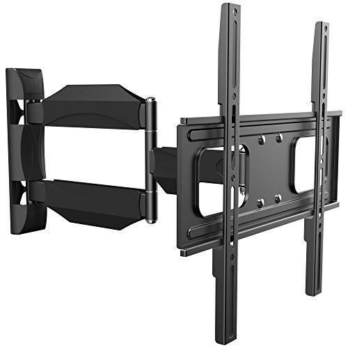 RICOO TV Wand-Halter Wand-Halterung Schwenkbar Neigbar S2644 Curved LED LCD OLED 4K Fernseh-Halterung Flach für Flachbild-Fernseher Bildschirm Schwenk-Arm Wohnwand Moebel VESA | 200 | 400 | mm