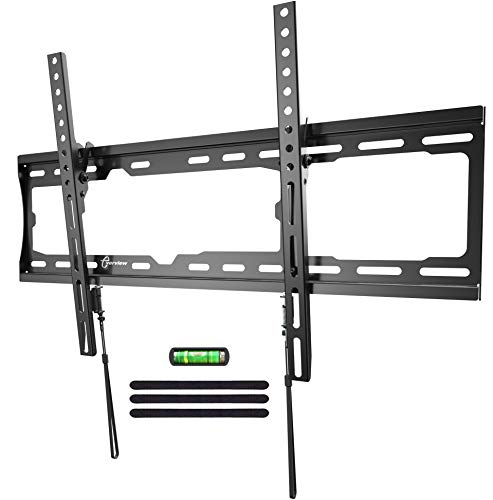 EVERVIEW TV Wall Mount Tilting Bracket Low Profile fits for Most 32-70 LED,LCD,OLED, Plasma Flat Screen TVs up to VESA 600 X 400mm,132lbs Loading Capacity with Bubble Level & Cable Ties