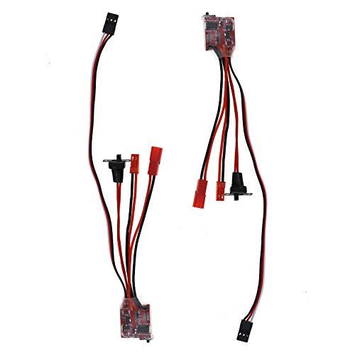 2 x Mini-Bürsten, elektronischer Geschwindigkeitsregler 30 A, gebürstet, ESC, DIY-Zubehör für Fernsteuerung, Auto