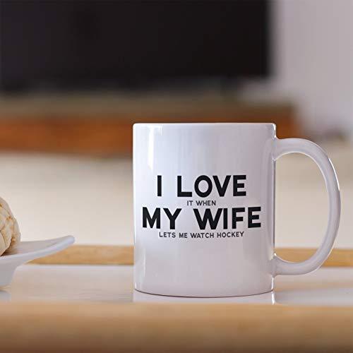 DKISEE Regalos de hockey para hombre marido regalo para esposa Idea aniversario él reloj amante
