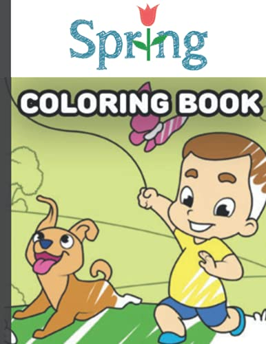 spring: Fun and Cute Coloring Book for kids , chilldren , boys , girls