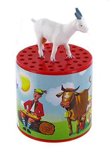Lutèce Créations Boîte à meuh ou boîte à bêêê Traditionnelle pour Entendre Le bêlement d'une chèvre avec chèvre sur la boîte (Réf: 5850958)