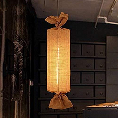 JIAHONG Araña Luces pendientes, cuerda del cáñamo de la lámpara, simple Rural Restaurante Bar Arte Iluminación café de la barra Balcón de la personalidad creativa de estar luz de la habitación