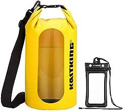 KastKing Floating Waterproof Dry Bag, Yellow Dry Bag Combo, 10L