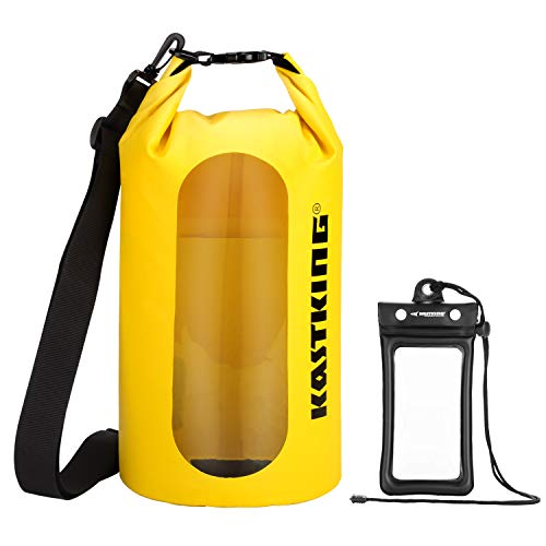 KastKing Floating Waterproof Dry Bag, Yellow Dry Bag Combo, 10L