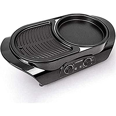 DFjTP New All-in-one Multifunctional Electric Hot Pot, Smoke-Free, Can Be Used Anytime, Anywhere, Frying, Roasting, Ravioli