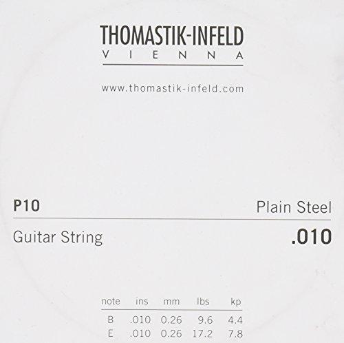 Thomastik-Infeld P10 Acoustic Guitar Strings: Spectrum Series Plain Steel; Brass Plated - Single E String