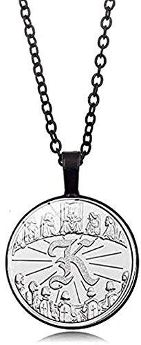 Yiffshunl Collar de Moda, Collar de Arthur King, Mesa Redonda, Collar de Ritter, Colgante, Collar de espíritu de Caballero Noble Adecuado para joyería para Hombre