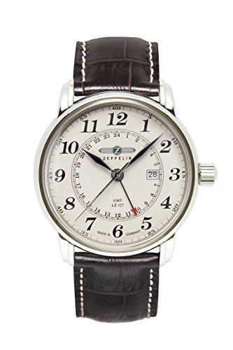 Zeppelin Reloj Analógico de Cuarzo para Hombre con Correa de Piel – 7642-5