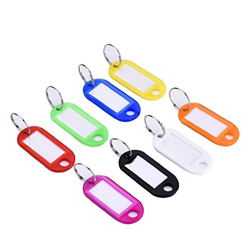 Key Fobs Portable Plastic Coloured Key Fobs Multi-Purpose Keyring Luggage ID Tags Labels with Key Rings (Random Color) Daily Necessities
