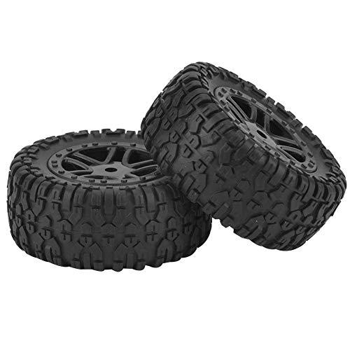 VGEBY1 2 Stücke Spielzeug Auto Reifen, PX RC LKW Gummirad Reifen mit Nabe für 9301 1/18 Modellauto
