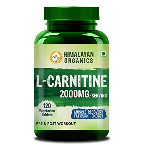 Himalayan Organics L Carnitine 2000mg/Serve | Supports Muscle Recovery, Fat Burn & Energy | 120 Veg Tablets