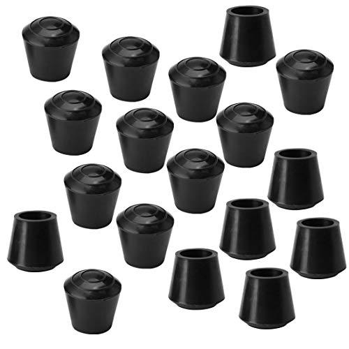 Sourcingmap - 18 piezas de tapas antideslizantes de goma para patas de mesa y muebles, protector de piso para reducir el ruido y evitar arañazos