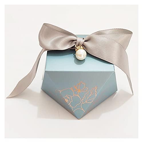 MAUAP Caja de Regalo Diamond Paper Caja de Caramelo Favores de Boda para huéspedes Caja de Embalaje de Chocolate Ducha de bebé Decoración de la Fiesta de cumpleaños