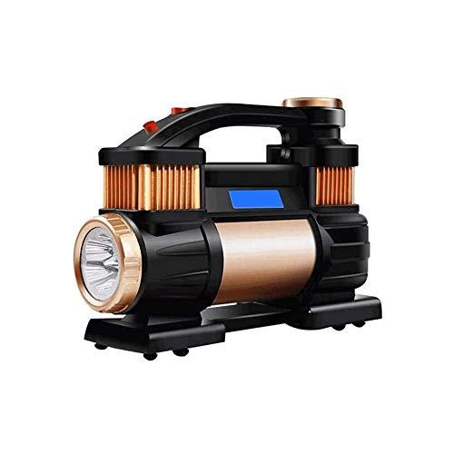 LKNJLL Tire Inflator Air Compressor, 12V DC / 110V AC Dual Power Tire Pump With Inflation, Dual Powerful Motors, Digital Pressure Gauge