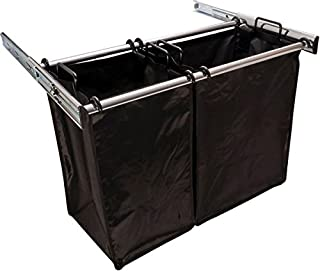 30 Inch Sliding Double Laundry Hamper Chrome