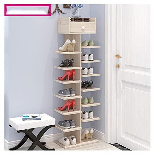 Zapatero Gabinete de almacenamiento de zapatos de madera para zapatos de 7 niveles Gabinete de almacenamiento de zapatos de madera adecuado para entrada de entrada de entrada sala de estar de baño Zap