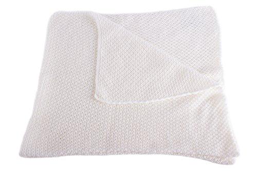 Love Cashmere Couverture pour Bébé Ultra Douce 100% Cachemire - Blanc - Fait main à Écosse