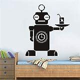 pegatina de pared etiqueta de la pared Asistente de robot Inteligente Camarero...
