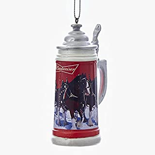 Budweiser Beer Stein Mug Christmas Tree Ornament Clydesdale Horses Decoration