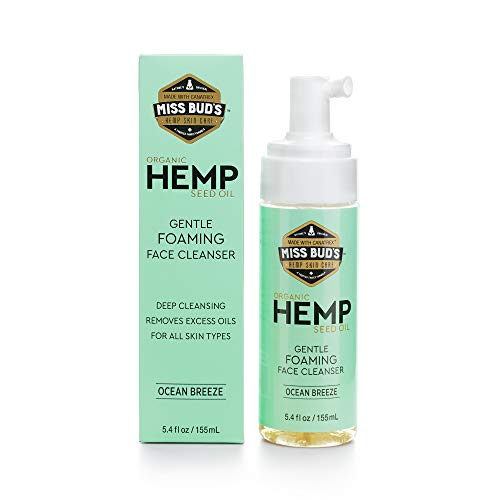 Hemp Gentle Foaming Face Cleanser Daily Beauty Facial Cleanser for All Skin Types