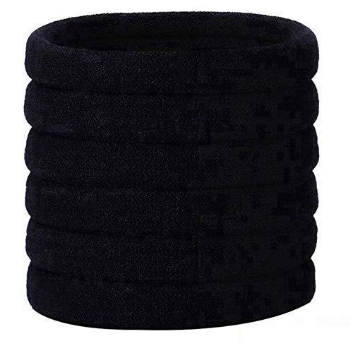 Haarelastiekjes, 30 stuks, zwart, elastische haarband, hoofdband, haarbanden, elastiek, accessoires voor haarkapsels van vrouwen en meisjes