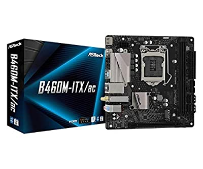 ASROCK B460M-ITX/AC Supports 10th Gen Intel Core Processors (Socket 1200) Motherboard
