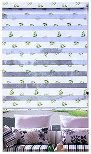 Plissee Papier Schatten Tag und Nacht Zebra Rollo Doppelgewebe lichtdurchlässig oder verdunkelnd Sichtvorhänge für Fenster Doppelrollo Natur Doppelrollo Rollo Rolladen Jalousie f