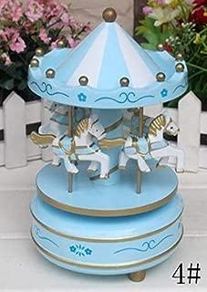 Blue Stones Carousel Music Box Music Box Home Decoration