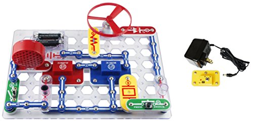 Snap Circuits Elenco Jr Deluxe Science and Engineering Kit with Battery Eliminator 2 Items