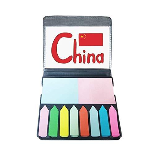 China Chinese nationale vlag rood patroon zelfklevende notitie kleur pagina markeerdoos