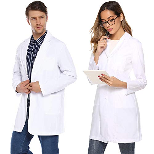 Abollria Bata de Médico Laboratorio Enfermera Sanitaria de