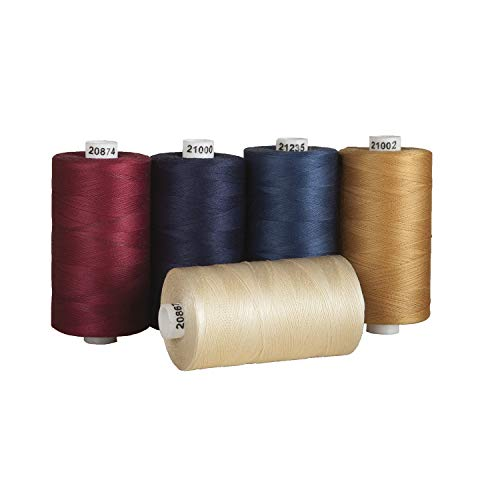 Connecting Threads 100% Cotton Thread Sets - 1200 Yard Spools (Set of 5 - Old Glory)