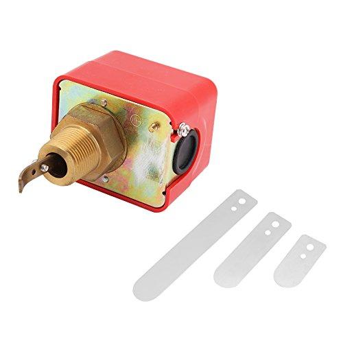 Akozon Paddel Typ Durchflusskontrolle SPDT R3 / 4 Flüssigkeit Wasser Öl Sensor Steuerung Automatische Paddel Durchflussschalter Schalter Automatische Flüssigkeit Wasser Öl Durchflussschalter 15A 250 V