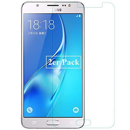 Smartphone Equipment [2er Pack] Panzerglas für Samsung Galaxy J5 2016 (SM-J510) Echt-Hartglas 9H, Glasfolie Schutzfolie Glas Folie Panzerfolie Bildschirm Schutz
