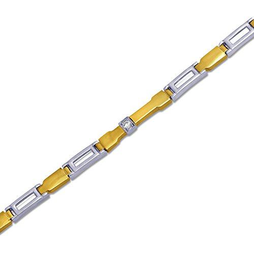 Armband Gold 585 Massiv Gelbgold Weißgold 14K Herren Goldarmband Armkette 22cm 5mm