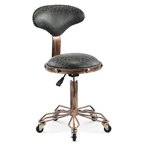 GRF Retro Hocker Barber Shop Chair Salon Drehhocker Mit Riemenscheibe Verdickter Sitz Für Family Bar
