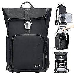 TARION Kamerarucksack Wasserdicht Fotorucksack DSLR Kameratasche Groß mit Laptop-Fach und Regenhülle für Spiegelreflexkameras (TYB-L)